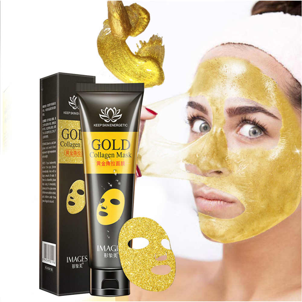 24K Gold Collagen Facial Mask 60g Blackhead Remover รูขุมขนปรับปรุงสิว Skin Care