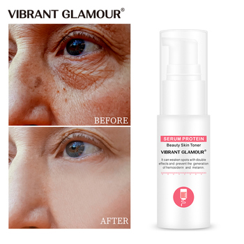 VIBRANT GLAMOUR Serum Protein Face Serum Anti-aging Collagen Whitening Moisturizer Essence Toner Suitable sensitive skin care vibrant glamour argireline collagen peptides face serum anti wrinkle ageless collagen essence lift firming moisturizer skin care