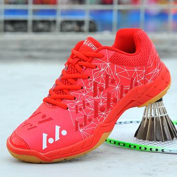 Nowe profesjonalne buty do badmintona mężczyźni kobiety lekkie trampki do badmintona rozmiar 35-45 oddychające buty tenisowe buty Laideis tanie i dobre opinie Viniatoo CN (pochodzenie) Spring2019 Dobrze pasuje do rozmiaru wybierz swój normalny rozmiar Siateczka (przepuszczająca powietrze)