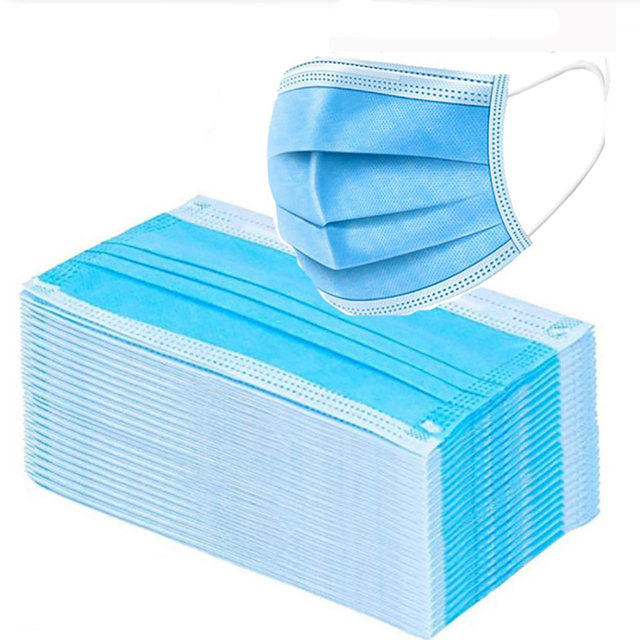 1-100pcs Disposable Mask Face Mouth Anti Dust Protect 3 Layers Filter Earloop Non Woven Dustproof Mouth Mask