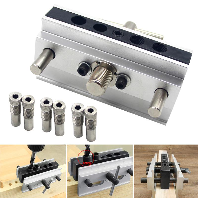 Self Centering Dowelling Jig Drilling Tools Kit For Wood Working Joinery Punch Locator JA55