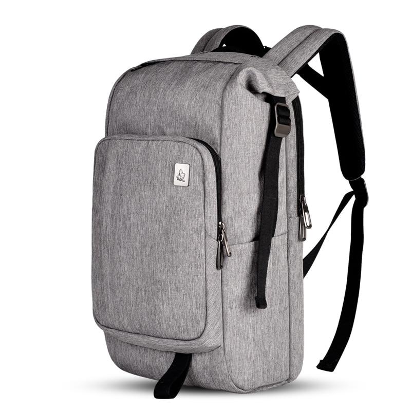 Haute élastique anti-stress solide sacs d'école badge en métal doux épaule sac à dos noir dos pad unisexe affaires-voyage-sacs