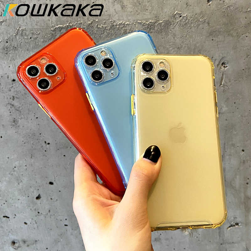 Kowkaka Transparent Telefon Fall Für iPhone 11 Pro Max X XR XS Soft Gorgeous Kamera Schutz Abdeckung Für iPhone 7 8 Plus Shell