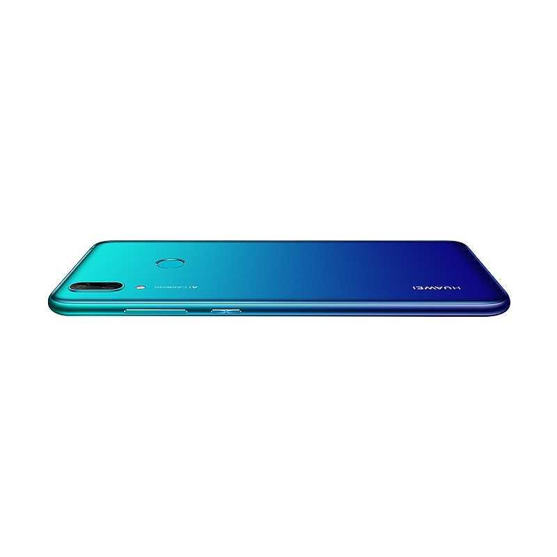 "Глобальная версия HUAWEI Y7 2019 3GB 32GB Смартфон Snapdragon Processer 6,26 ""дисплей отпечатков пальцев двойная камера AI 4000mAh"
