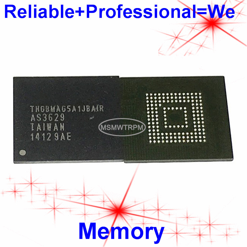 THGBMAG5A1JBAIR BGA153Ball EMMC4 5 4 5 4GB Mobilephone Memory New original and Second-hand Soldered Balls Tested OK