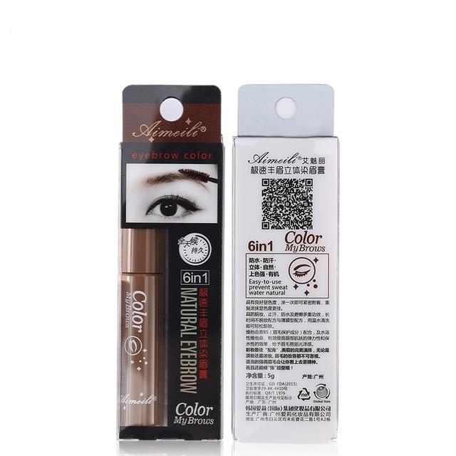 3 Colors Natural Eyebrow Enhancers Gel Tattoo Waterproof Eyebrow Mascara Cream Dye Eye Brow Tint Makeup Long Lasting Brown Gel 5