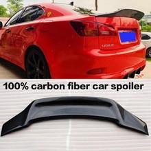 Ceyusot para real fibra de carbono acessório spoiler lexus is série is200is250is300 tronco do carro traseiro lábio asa spoiler r estilo 2006 11