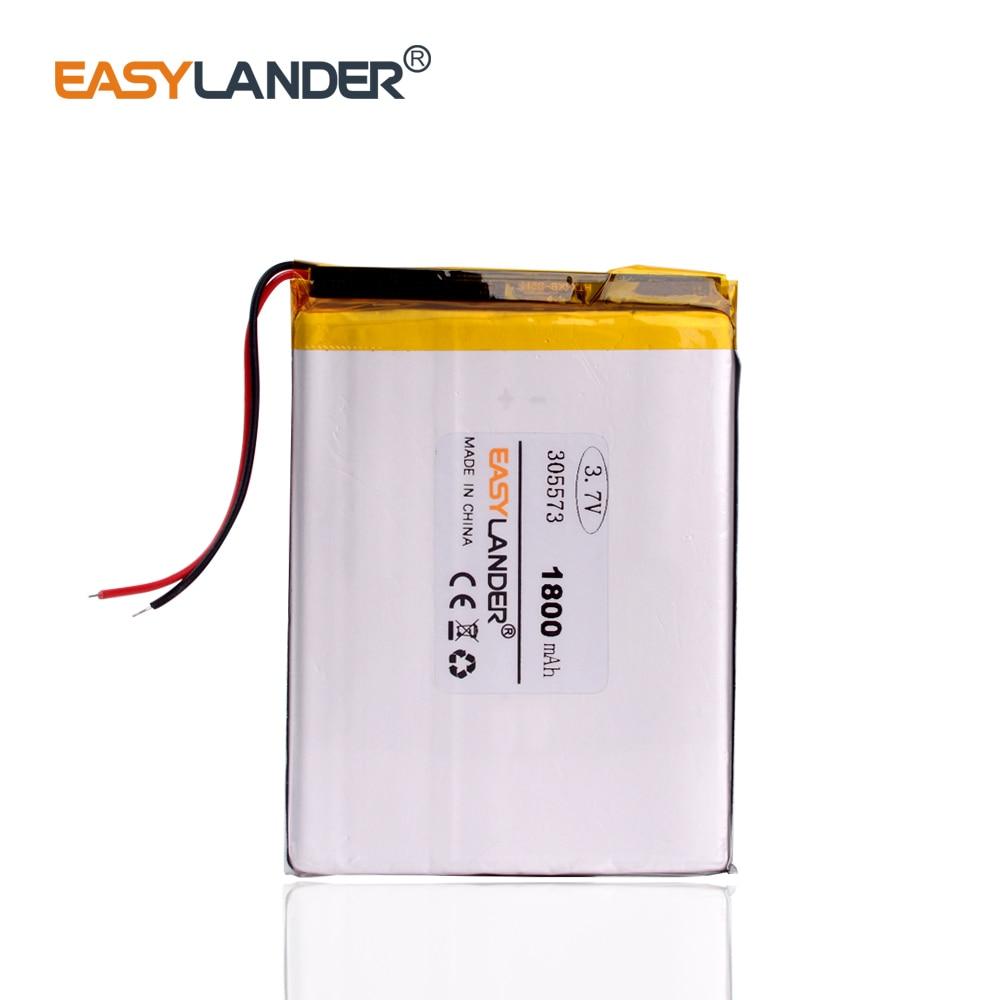305573 3.7V 1800MAH Li Ion Polymer Battery 305674 MP3 MP4 DVD DVR GPS Pocketbook Battery 305575