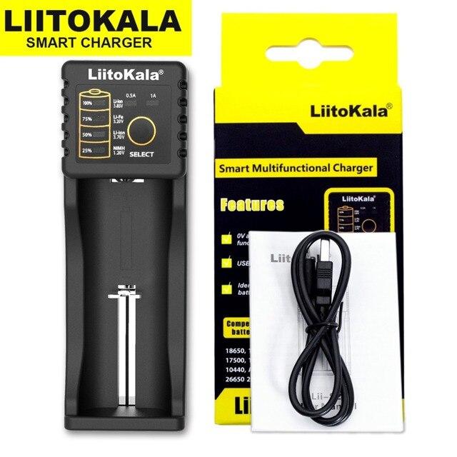 Liitokala Lii-500 Lii-402 battery charger Lii-202 Lii-100 Lii-400 18650  for 26650 21700 17355 18350 14500 AA AAA Batteries 2