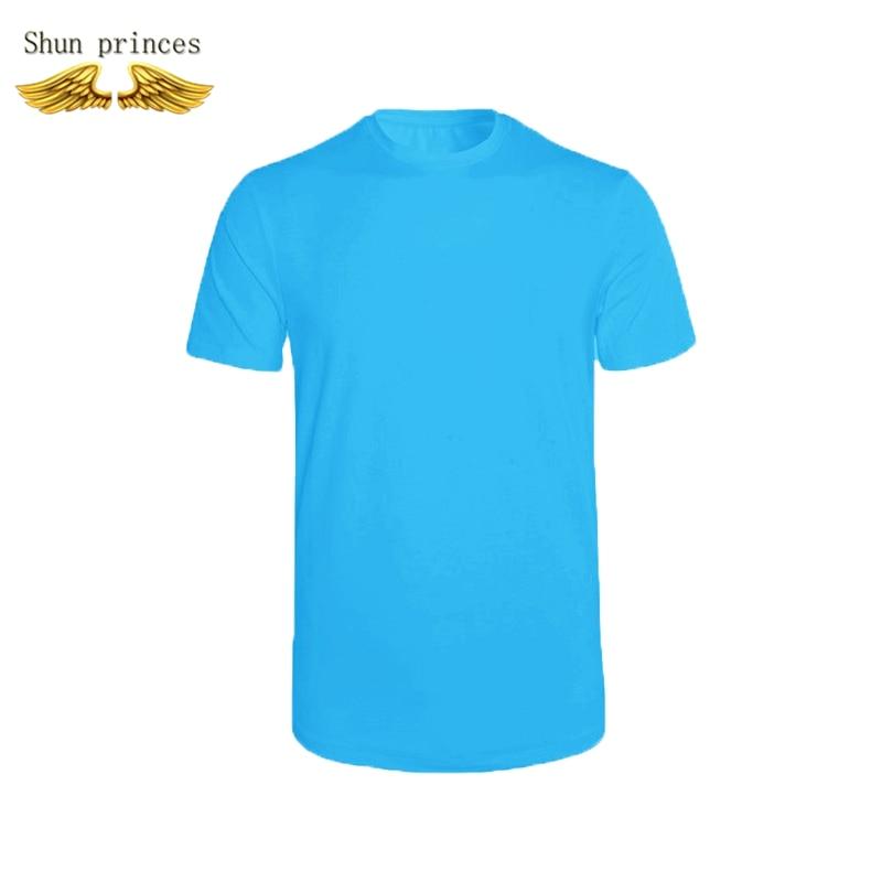 T shirt men Round collar cotton Pure color t shirt style outdoor leisure tshirt running  men t shirt  tide mens movies t-shirt