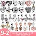 Herz Sammlung 925 Sterling Silber Liebe Für Immer Herz Baumeln Charme fit Original Pandora Armband Halskette Silber 925 Schmuck