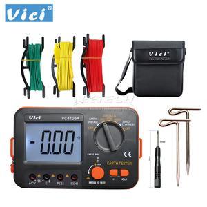 VICHY VC4105A ЖК-дисплей Цифровой мультиметр multimetro диагностический инструмент тестер Сопротивление заземления/Напряжение метр тестер B0410