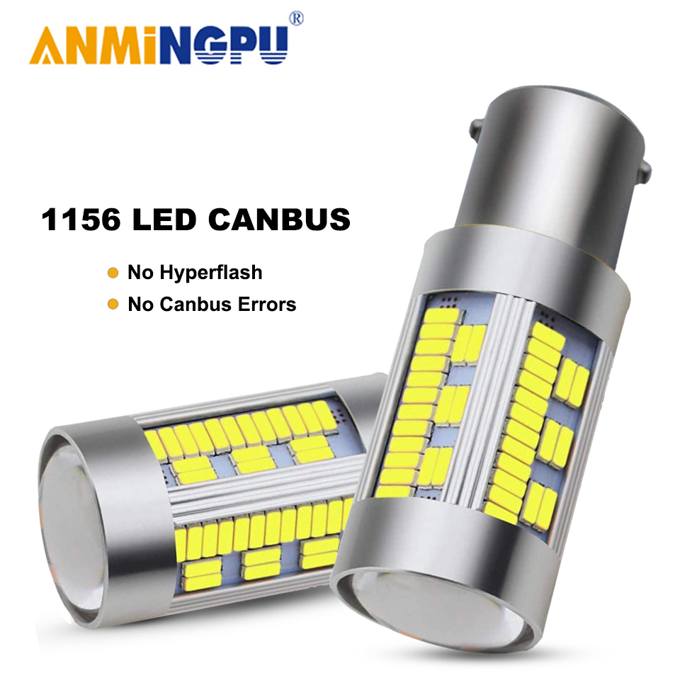 Amningpu 2x сигнальная лампа 1156 led canbus p21w ba15s bau15s