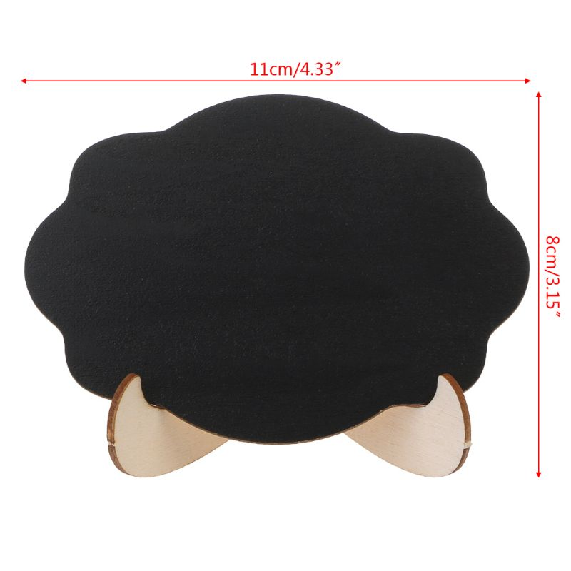 10pcs Wooden Mini Blackboard Cloud Shape Table Sign Memo Message Stand Chalk Board Wedding Party Decoration Supplies LX9A