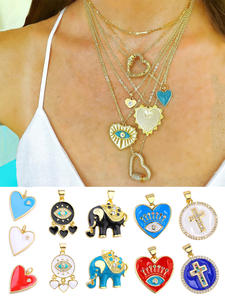 Enamel Charm Pendant Jewelry Evil JUYA Luxurious for Hot Fashion