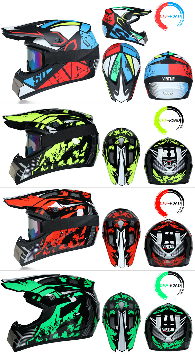 Professional Lightweight Off-road Motorcycle Helmet Racing Bike Children ATV Off-road Vehicle 3
