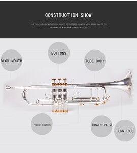 Image 2 - BULUKE Tromba strumento Musicale Bb tromba piatta Classificazione preferito Slivered placcato tromba prestazioni professionali