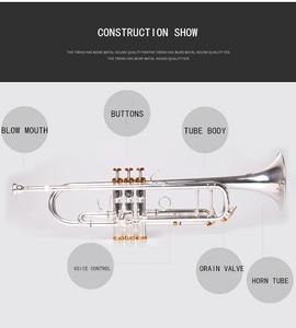 Image 2 - BULUKE  Trumpet  Music instrument Bb flat trumpet Grading preferred Slivered plated trumpet professional performance