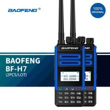 2 יח\חבילה BF H7 מכשיר קשר מתח גבוה 10W 10KM להקה כפולה נייד CB חזיר כף יד 2 דרך רדיו hf Boafeng H7 משדר 2021