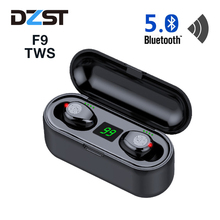 Wireless Earphone Bluetooth V5.0 F9 TWS LED Display With 2000mAh Power Bank Headset With Microphone