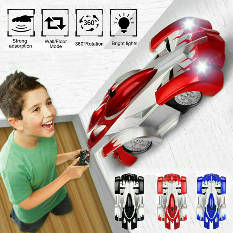 Wall Climbing Remote Control Car Radio Controlled Stunt Racing Kids Driving Toys