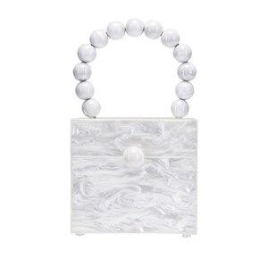 Image 2 - Okno akrylowe wieczorowa kopertówka damska luksusowy wzór z kamieniem zroszony twarda torebka damska projektant zielona kopertówka nowość