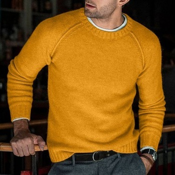 2020 Men Wool Knitted Sweaters Warm O Neck Pull Knitwear Autumn Winter Clothes Casual Tricot Jumper Pullovers Sweater Homme