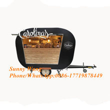 3m food van cart food truck vintage caravans coffee trailer ice cream car food kiosk mobile dining vehicle(China)