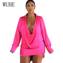 WUHE Sexy Bandage Hollow Out Short Dress for Women Fashion Long Sleeve Deep V-neck Bodycon Party Club Dress Mini Stylish Dress stylish plunging neck long sleeve gray knit women s bodycon dress