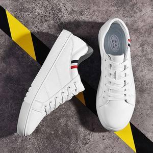 Image 2 - SUROM 2019 אביב חדש גברים נעליים יומיומיות לנשימה ללבוש עמיד נעלי נוח קיץ לבן עגול הבוהן תחרה עד שטוח Snekaers
