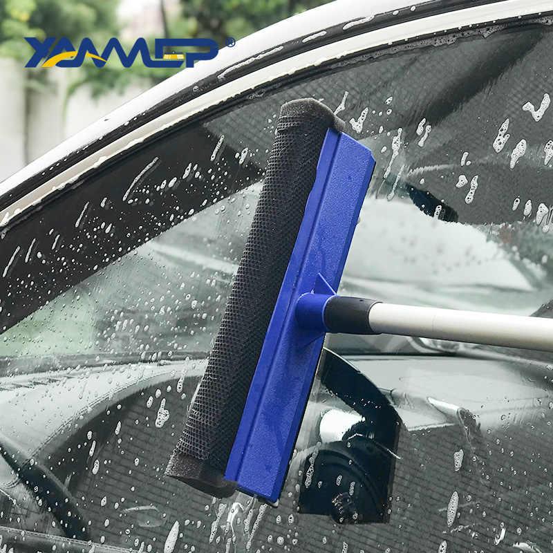 فرشاة غسيل السيارات نافذة ممسحة الإسفنج فرشاة تصغير مقبض طويل تنظيف السيارات فرش اكسسوارات السيارات أدوات تنظيف السيارات Xammep