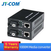 1 par de convertidor de medios ópticos de Fibra Gigabit 1000Mbps simple modo SC Puerto Fibra Optica rj45 transceptor óptico 3/20km