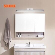 Moderne Led salle de bain lampe AC 90 260v 8W 40CM 12W 55CM Led miroir lumière applique murale applique murale chambre noir argent