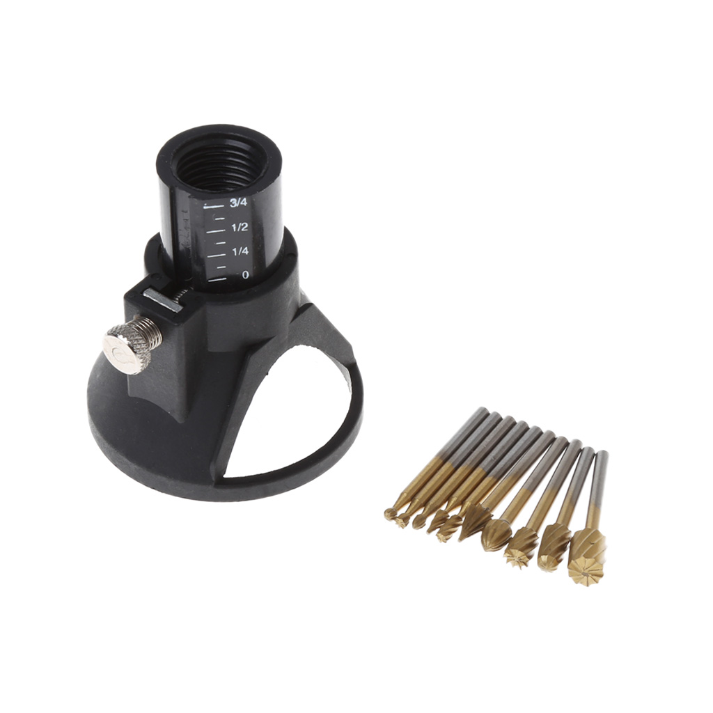 2018 New 10Pcs 1/8Inch Shank Milling Rotary File Burrs Bit Locator Set Wood Carving Rasps Drop Shipping Support