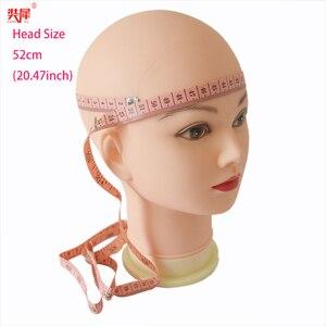 Image 3 - מאוד רך קירח ראש פאה Stand עבור כובע זכוכית תצוגת פאת פאה ביצוע תסרוקת אימון עיסוי Mannequin ראש פאת ראש stand