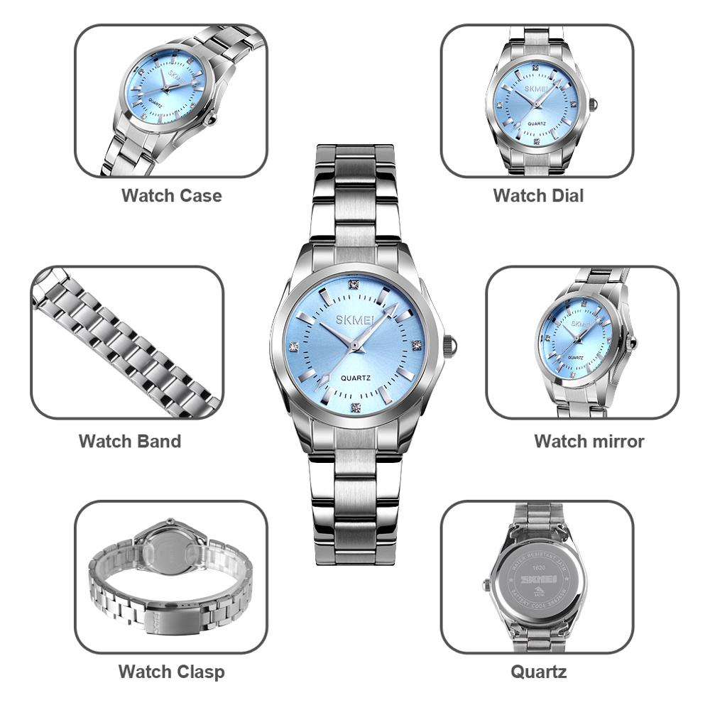 2020 SKMEI Casual Women Romantic Quartz Watches Luxury Female Girl Clock Waterproof Ladies Wristwatches Relogio Feminino 1620 5