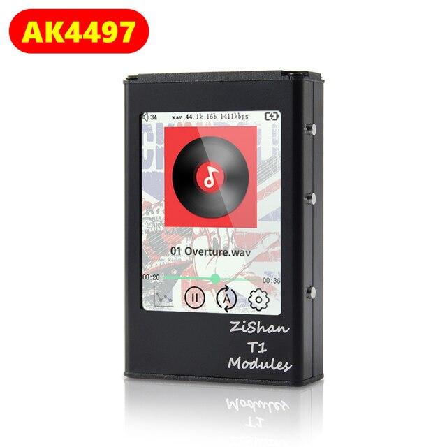 Zishan T1 4497 AK4497EQ المهنية ضياع مشغل موسيقى MP3 HIFI المحمولة DSD الأجهزة فك شاشة تعمل باللمس متوازنة AK4497