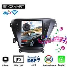 Sinosmart tesla estilo carro gps rádio navegação jogador para hyundai elantra 2012 i35 avante md 2011-2013