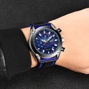 Image 3 - LIGE Herren Uhren Silikon Strap Top Marke Luxus Wasserdichte Sport Chronograph Quarz Business Armbanduhr Uhr Männer reloj hombre