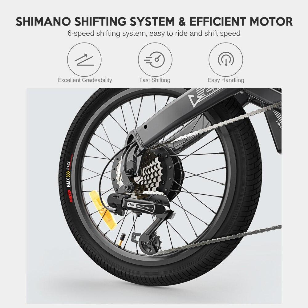 25 км/ч для е байка складной Мощность Электрический велосипед мопед, фара для электровелосипеда в 80 км пройденное расстояние в милях на откры... - 5