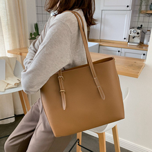 Solid Bag For Women's Shoulder Bags High Capacity Women Handbags Luxury Pu Leather Lady Hand Bags Females Handbag Purse 2020 New hand made new vintage genuine leather handbag women burgundy red handbags messenger bags lady vegetable tanned leather solid bag