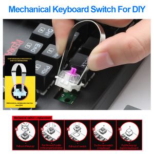 Image 5 - Redragon K550 alüminyum USB mekanik oyun klavyesi Rgb kırmızı mor anahtarı Diy ergonomik anahtar arkadan aydınlatmalı anti laptop PC Pro oyun