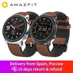 Image 1 - Huami Amazfit GTR 47mm GPS Smart Uhr Männer 5ATM Wasserdichte Smartwatch 24 Tage Batterie AMOLED Bildschirm 12 Sport Modi