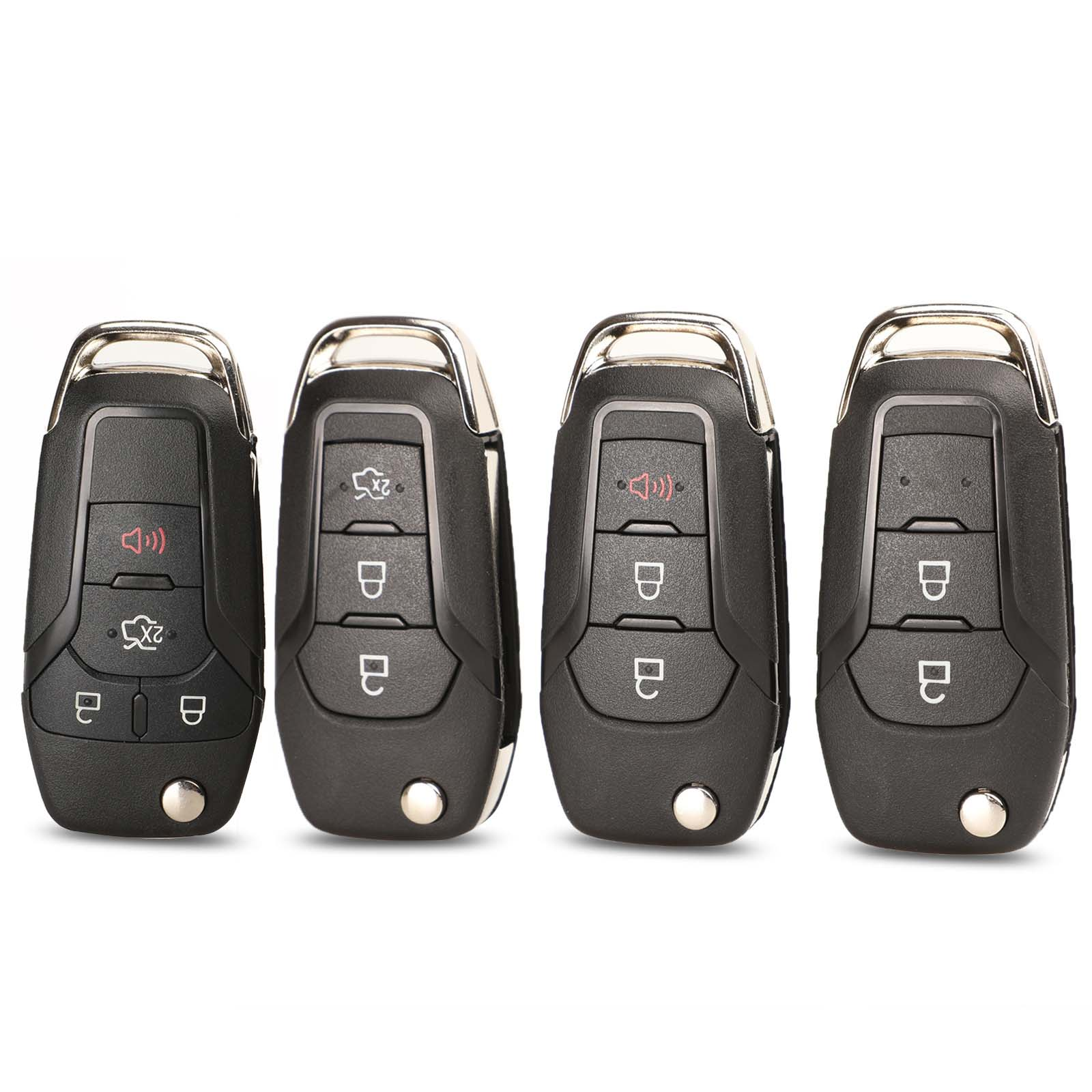 jingyuqin Flip Remote <font><b>Key</b></font> Shell Of <font><b>Ford</b></font> Fob for <font><b>Ford</b></font> <font><b>Fusion</b></font> Edge Explorer 2013 2014 <font><b>2015</b></font> FCC ID: N5F-A08TAA HU101 Blade image