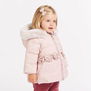 Image 3 - דייב bella חורף תינוק למטה מעיל ילדים 90% לבן ברווז למטה מרופד מעיל ברדס הלבשה עליונה