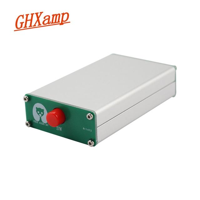 Ghxamp 3.5mm אודיו אות switcher 2 קלט 1 פלט בורר עם אלומיניום מעטפת אוזניות אודיו מתג לוח 1pc