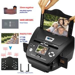Image 3 - 디지털 사진 필름 스캐너 2.4 인치 8.1 메가 픽셀 4 in 1 스캐너 변환 35mm 135 슬라이드 네거티브 스캐너 이름 카드 스캐너