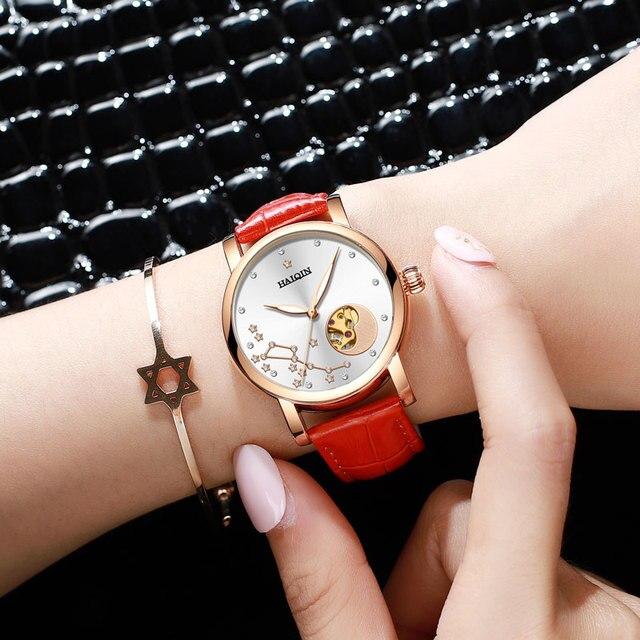 HAIQIN Fashion watches women watches top brand luxury Ladies dress wrist watch mechanical watch leather relogio feminino 2019 | Fotoflaco.net