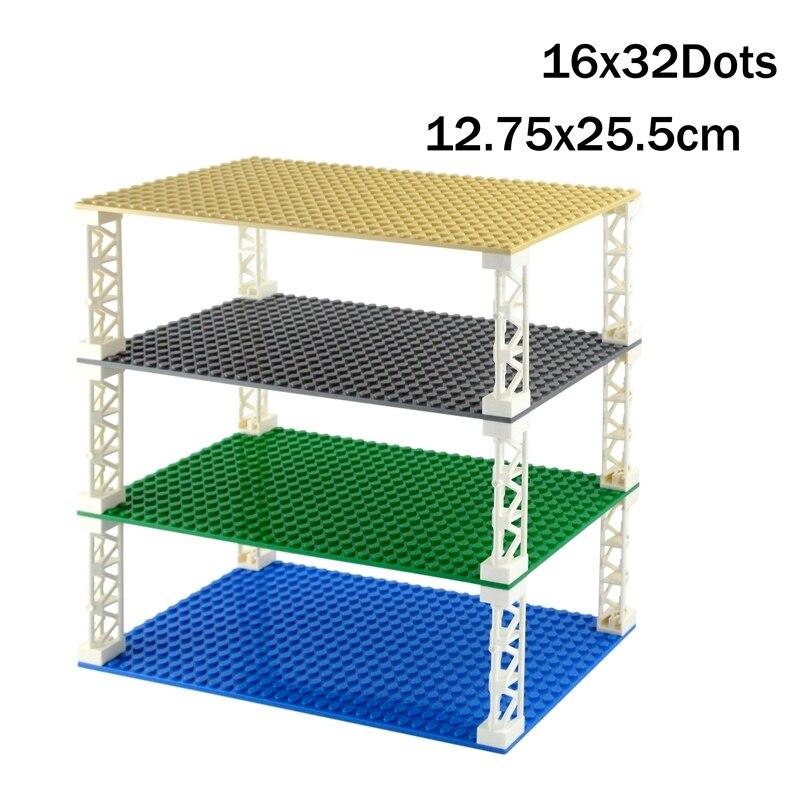32*16 точек двухсторонняя Базовая пластина классические маленькие кирпичи опорные плиты Строительные блоки совместимы с конструкцией lego Дет...