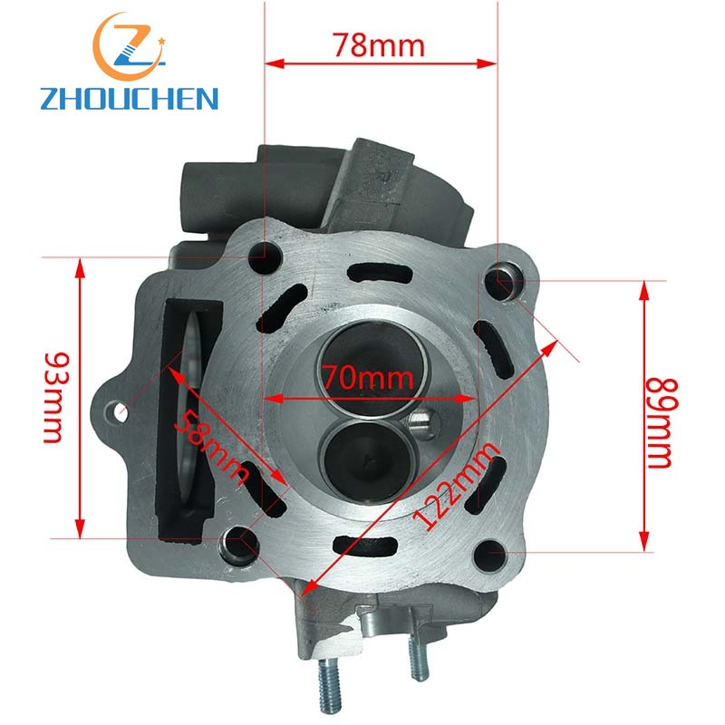 <font><b>250cc</b></font> CB <font><b>250cc</b></font> cylinder head Fit For Loncin water cooling and <font><b>reverse</b></font> <font><b>engine</b></font> for Off road motorcycle image